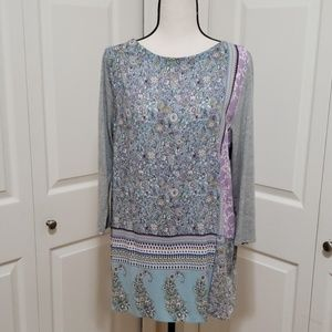 J.Jill Mixed-Media Patchwork-Print Tunic~in stores